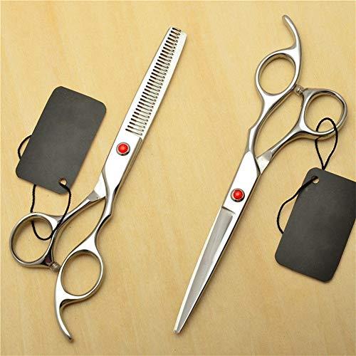HJWL Ciseaux Coiffure, Ciseaux à Cheveux Ciseaux de Coiffure Professionnel Rubis Ciseaux de Coupe de Cheveux for Salon de Coiffure Outils de Coiffure (Size : 6 inches)