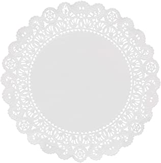 Hygloss Products Round Paper Doilies - Decorative, White Lace Doilies - Disposable - Food Grade Safe - 8 Inches - 100 Pack