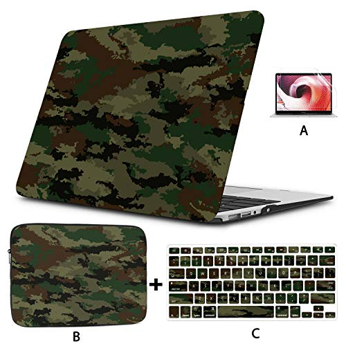 Macbook Pro Laptop Cover Camouflage Protective Military Cool Style Macbook Accessories Case Hard Shell Mac Air 11'/13' Pro 13'/15'/16' With Notebook Sleeve Bag For Macbook 2008-2020 Version