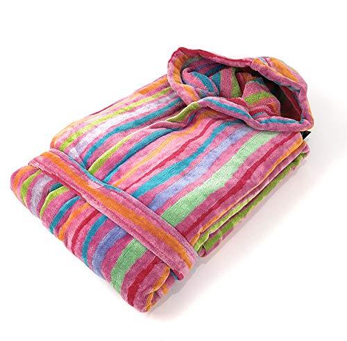CARRARA Albornoz de rizo con capucha, talla S, color 002 fucsia