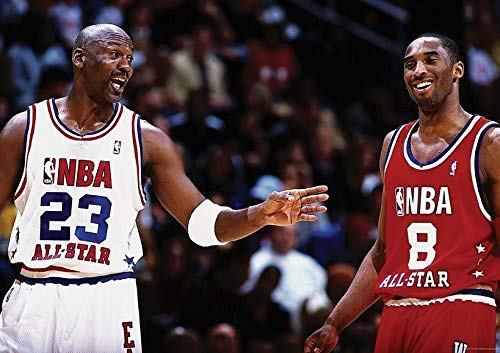 Kobe Bryant Michael Jordan NBA poster (A1–841x 594MM)