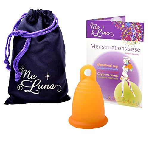 Me Luna Menstruationstasse Classic, Ring, Orange, Größe L