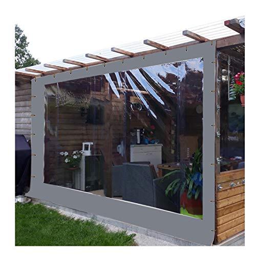 YJSMB Al Aire Libre Cortina, Claro Lonas Paneles Laterales Impermeable A Prueba De Polvo Diseñado para Área De La Barra del Mirador, Pérgola De Madera (Color : Gray, Size : 6x3m/19.7x9.8ft)