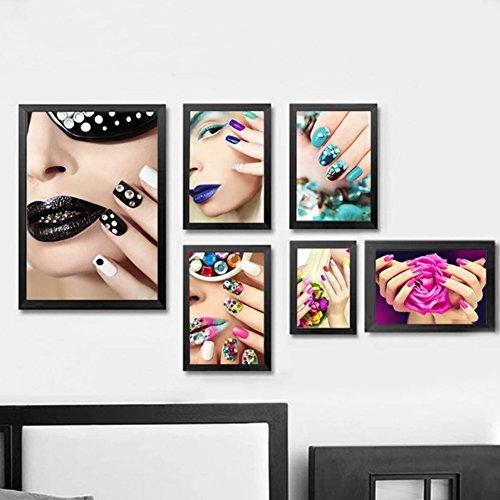 bdrsjdsb Mode Nail Art Beauty Salon Leinwand Malerei Ungerahmt Bild Wand Wohnkultur Poster 3# 30 * 40 cm
