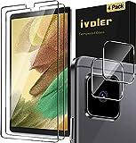 ivoler 2 Unidades Protector de Pantalla para Samsung Galaxy Tab A7 Lite 8.7 Pulgadas (T220 / T225), con [2 Unidades] Protector de Lente de Cámara, Cristal Vidrio Templado Premium [Antiarañazos]