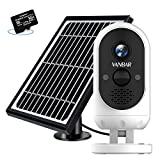 VANBAR Outdoor Security Camera Wireless,Solar Powered Camera 10500mAh Battery With FHD 1080P, WiFi