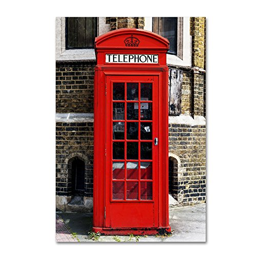 English Phone Booth London by Philippe Hugonnard, 16x24-Inch Canvas Wall Art