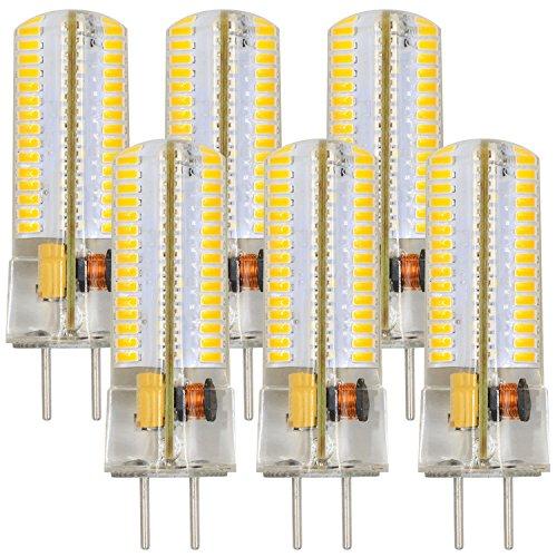 MENGS 6 Stück GY6.35 6W LED Lampe 120x3014 SMD Kaltweiß 6500K AC/DC 12V Mit Silikon Mantel