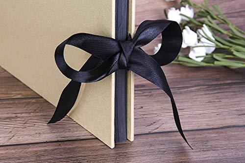 アルバム写真スクラップブック黒台紙メモ書き可手作りプレゼントフォトアルバムセット送別結婚記念日誕生日の贈り物(イエロー)
