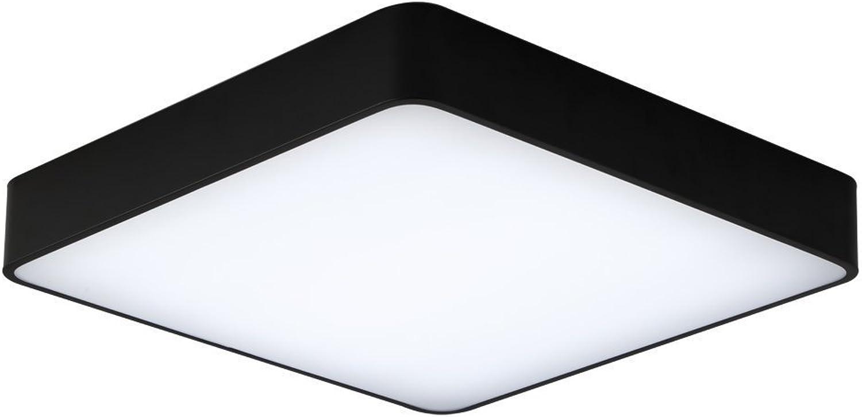24W Kaltweiss LED Einfach Deckenlampe Platz Deckenleuchte für Schlafzimmer Küche Flur Wohnzimmer Lampe Wandleuchte Energie Sparen Licht Schwarz (400  400  60 mm)