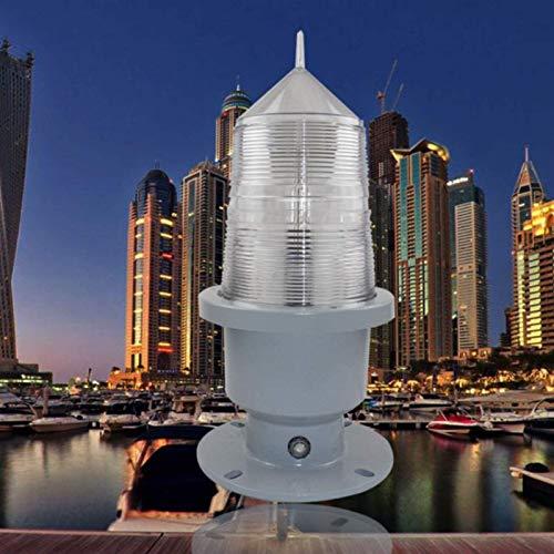 MARHD Luz de señalización de navegación del Ancla, Interruptor de Control de luz Inteligente, Voltaje 220V AC, se Adapta a la Temperatura -40℃-+70℃, Apto para Techo, velero y Faro (Color : White)