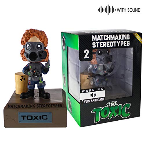 Fandrops - Bobblehead with Sound, Collectible Gamer Gift, Action Figure Inspired by Gamer Stereotypes (Toxic)