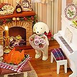 Decdeal DIY Puppenhaus 3D Holz Miniaturhaus Kit mit LED Licht Kunsthandwerk Geschenk für Valentinstag, Kindertag, Weihnachten, Hochzeit, Geburtstag - 6