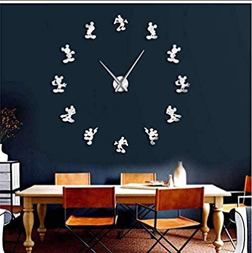 ✿ Tipo: reloj de pared en acrílico, efecto espejo en la pared ✿ Relojes de pared DIY 3D: aleación + acrílico, no tóxico y resistente a la luz, fuerte, duradero, resistente al agua, espuma EVA, ecológico, seguro para niños. Cada espejo tiene una lámin...