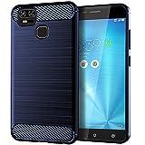DQG Coque pour ASUS Zenfone Zoom S ZE553KL (7.20'),Souple Gel Fibre Carbonique Housse...