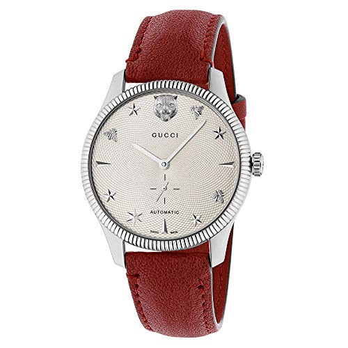 Reloj GUCCI G-Timeless Reloj de los Hombres Automtico de Cuero Amaranto YA126346