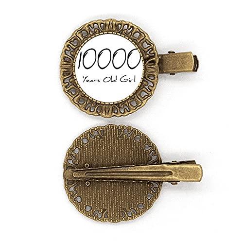 10000 Jahre alt Girl Age Art Deco Geschenke Mode Haarnadel Haarschmuck Brosche Haarklammer Barrette