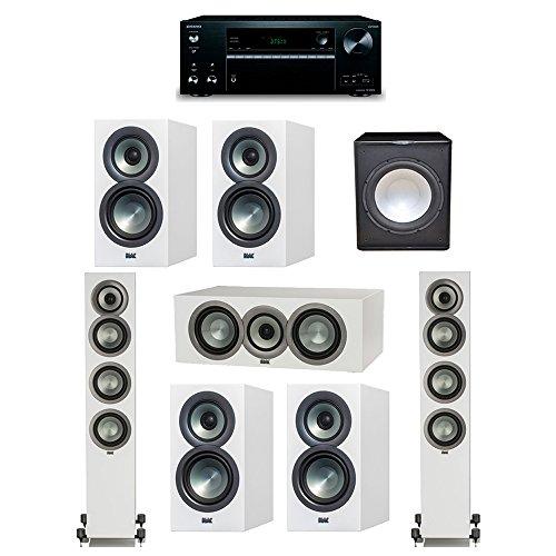 Fantastic Deal! ELAC Uni-Fi Slim White 7.1 System with 2 ELAC FS-U5 Floorstanding Speakers, 1 CC-U5 ...