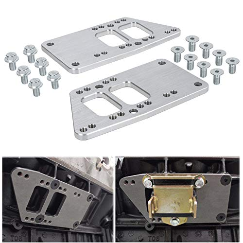for LS Swap Motor Mounts Adapter Plates LS Conversion Adjustable Universal Swap Bracket Small Block for LS1 LS3 LS2 LQ4 LQ9 LS6 L92 L99 L33 LR4 Billet 551628 for SBC Vehicle to LS Engine
