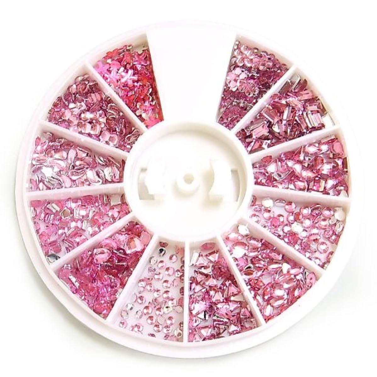 マーキングたるみ貨物アクリルラインストーン12種セット【ピンク】