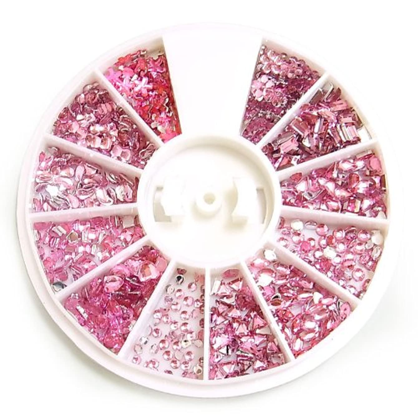 とんでもない落ち着く壮大なアクリルラインストーン12種セット【ピンク】