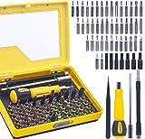 Juego de destornilladores de precisión 54 en 1 R'deer magnéticos multifunción, con pinzas, triangular, barra de galleta y eje flexible para iPhone/iPad/Mac/PC/portátil/reloj/gafas/electrónica.