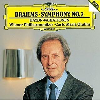 ブラームス:交響曲第3番、ハイドンの主題による変奏曲