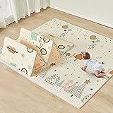 Uanlauo alfombra bebe, Alfombra de Juego, 180 * 200 * 1cm Alfombra Niños Alfombra de Juegos de XPE,Alfombra de juego Plegable Impermeable de Doble Diseño, Alfombra Juegos Bebe