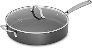 Calphalon Classic Nonstick Saute Pan With Cover, 5 Quart, Grey