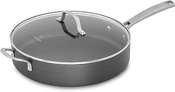 Calphalon Classic Nonstick Saute Pan With Cover 5 Quart Grey
