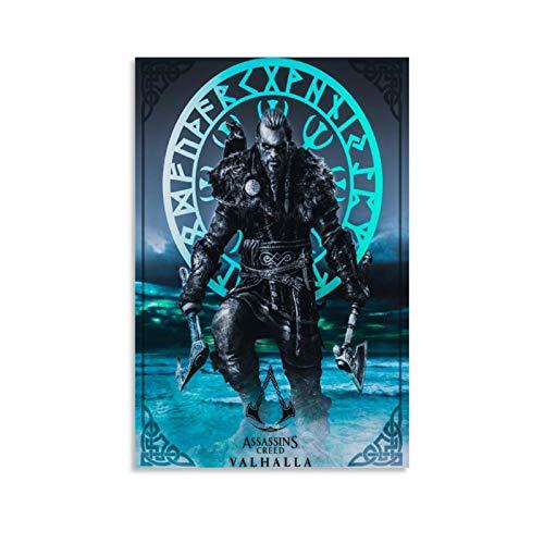 Póster de Assassin's Creed Valhalla Game Eivor Man 4 Lienzo artístico y arte de pared, diseño moderno, 40 x 60 cm