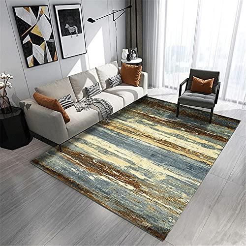 "Alfombra de Interior Alfombra marrón Azul salón de la Sala de Estar Estera Rectangular antifouling Dormitorio niña alfombras Salon 130x190cm 4ft 3.2"" X6ft 2.8"""