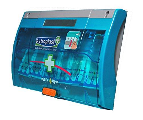 Astroplast 1047150 Pflasterspender für 60Pflaster, diebstahlsicher, einfach herausziehen und öffnen, Blau