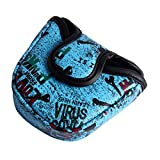 Andux Mallet Putter Cover Golf Putter Head Covers MT/TG05 (Blue)