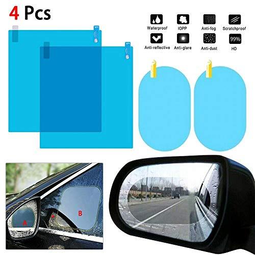 XFYS 1 Set Auto Seitenfenster Schutzfolie Antibeschlagmembran Blendschutz wasserdichte Regenschutz Autoaufkleber Klarfolie-1_4 Stück Zwei-Größen-Film