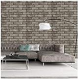 Papel de contacto de piedra de papel de tapiz de ladrillo y cáscara para cocina de baño del dormitorio 45 cm x 3 m