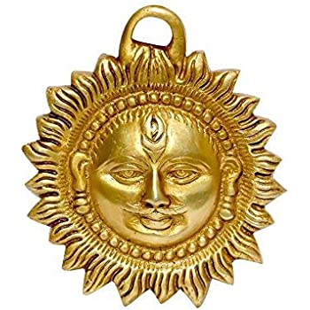 Buy Vrindavanbazaar Com Copper Made Hanging Sun Idol Copper Hanging Surya Idol For Vastu Good Luck Success And Prosperity Hanging Sun Idol For Positive Energy 9 Cm Online At Low Prices In India Amazon In