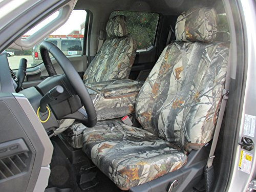 Durafit Seat Covers,Made to fit 2015-2021 Ford F150 XLT/Lariat, Front 40/20/40 Split Bench, Opening 20 Section Seat Bottom and Opening Console.Waterproof XD3 Camo Endura