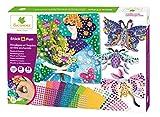 Sycomore- Mosaïques et Sequins Autocollants pour Enfants – 3 Tableaux et 3 modèles animés – Jardins Enchantés-Loisir créatif-Stick & Fun-Dès 5 ans-Sycomore-CRE7020, CRE7020