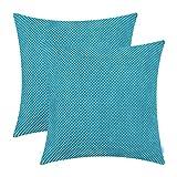 CaliTime 2er-Pack Komfortable Dekokissenbezüge Taschen für Couch Schlafsofa Bequemes weiches...