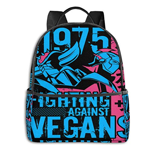 XCNGG Anime 046b Grendizer Vegan Dark Active Student School Bag School Cycling Ocio Viajes Camping Outdoor Mochila