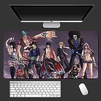 ワンピースアニメマウスパッド大型ゲーミングマウスパッドデスクパッドキーボードマット、ステッチエッジ付き、仕事とゲーム、オフィスと家庭用900X400X3MM-A_900X400X3MM