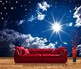 Vliestapete Fototapete Leuchtender Sternenhimmel - Größe: 400 x 280 cm, 8-teilig