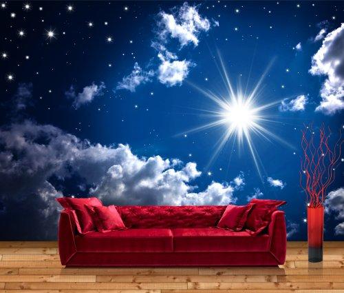 posterdepot Vliestapete Fototapete Leuchtender Sternenhimmel - Größe: 400 x 280 cm, 8-teilig