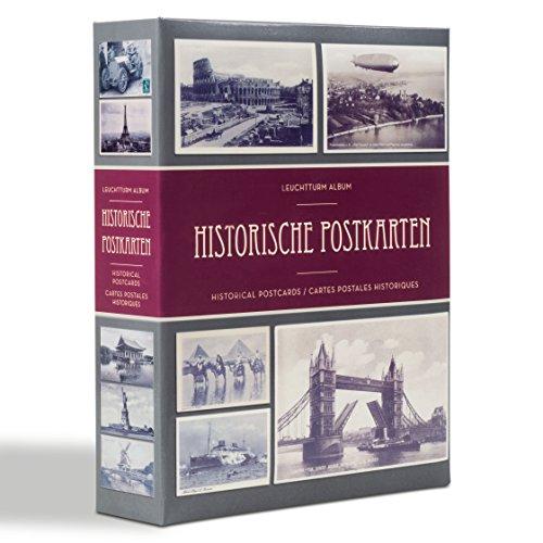 Leuchtturm Sammel-Album für 200 historische Postkarten, mit 50 eingebundenen Klarsichthüllen