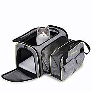 DADYPET Pet Carrier Airline Approved, Soft-Sided Expandable Collapsible Portable Travel Carrier with Wool Rugs for Puppy Dogs Cats Product Name