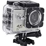 OCEANO HD 4K 20 MP WiFi con Webcam PC Modo micrófono Exterior cámara bajo el Agua 40 m con Mando a Distancia EIS estabilización cámara Impermeable Deportiva Gran Angular de 180 °