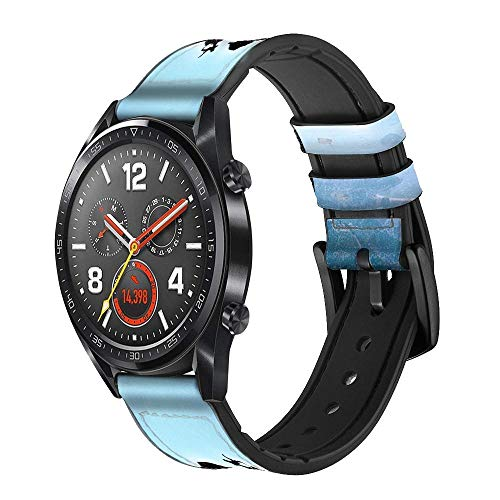 Innovedesire Extreme Freestyle Motocross Correa de Reloj Inteligente de Cuero para Wristwatch Smartwatch Smart Watch Tamaño (18mm)