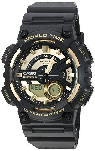 Casio Men's Sports Quartz Watch with Resin Strap, Gold, 28.6 (Model: AEQ110BW-9AV)