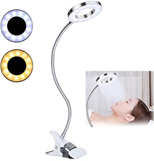 Anillo de luz de tatuaje, lámpara de belleza, lámpara de luces de lámpara de clip de maquillaje de círculo portátil USB, luz de ceja, salón de tatuaje de labios con clip para maquillaje de belleza